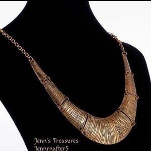 Jewelry - Antiqued Bronzed Hammered Tribal Necklace